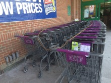 Stop & Shop where carts are more important than shoppers.